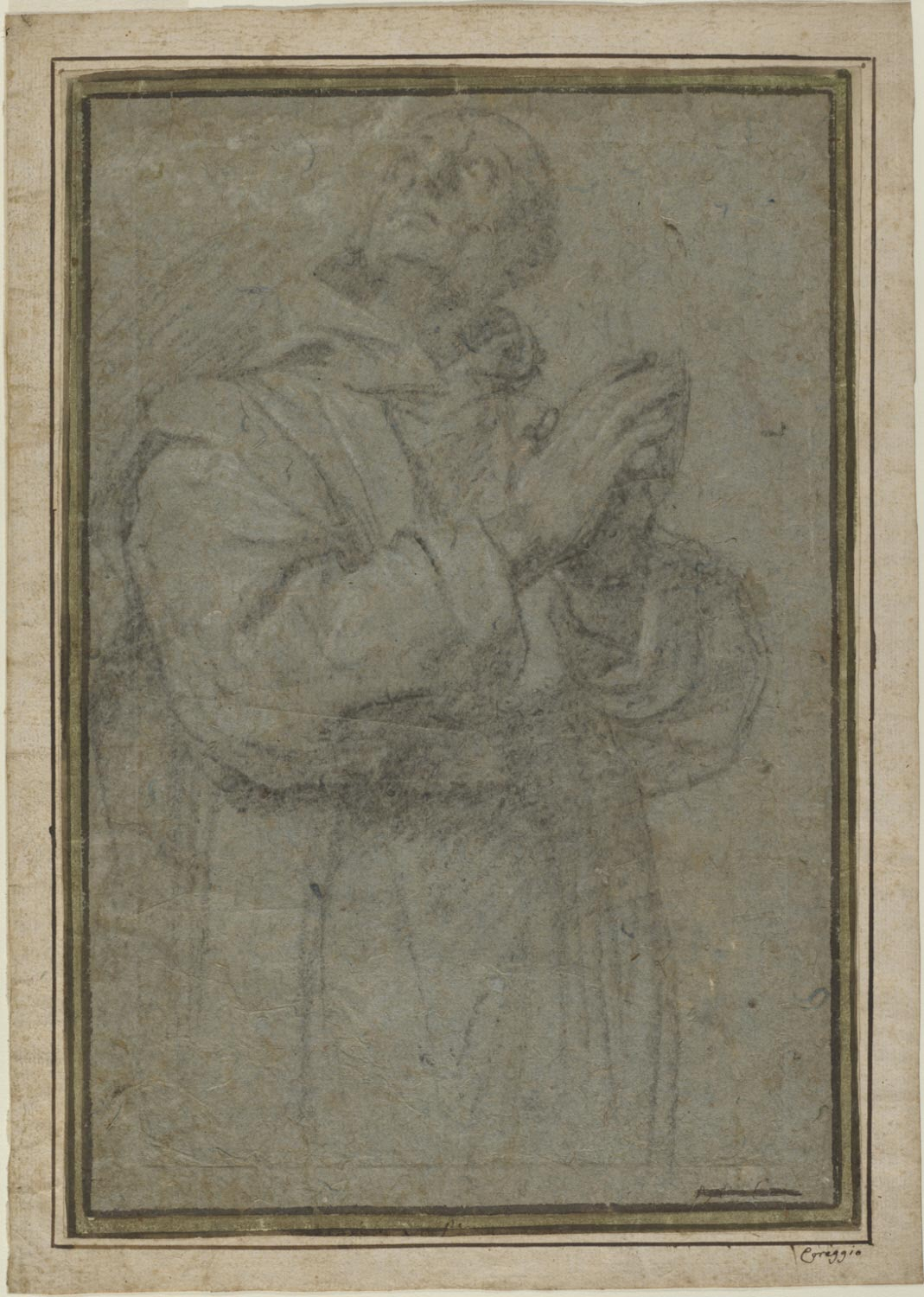 Carthusian Monk with His Hands Clasped in Prayer