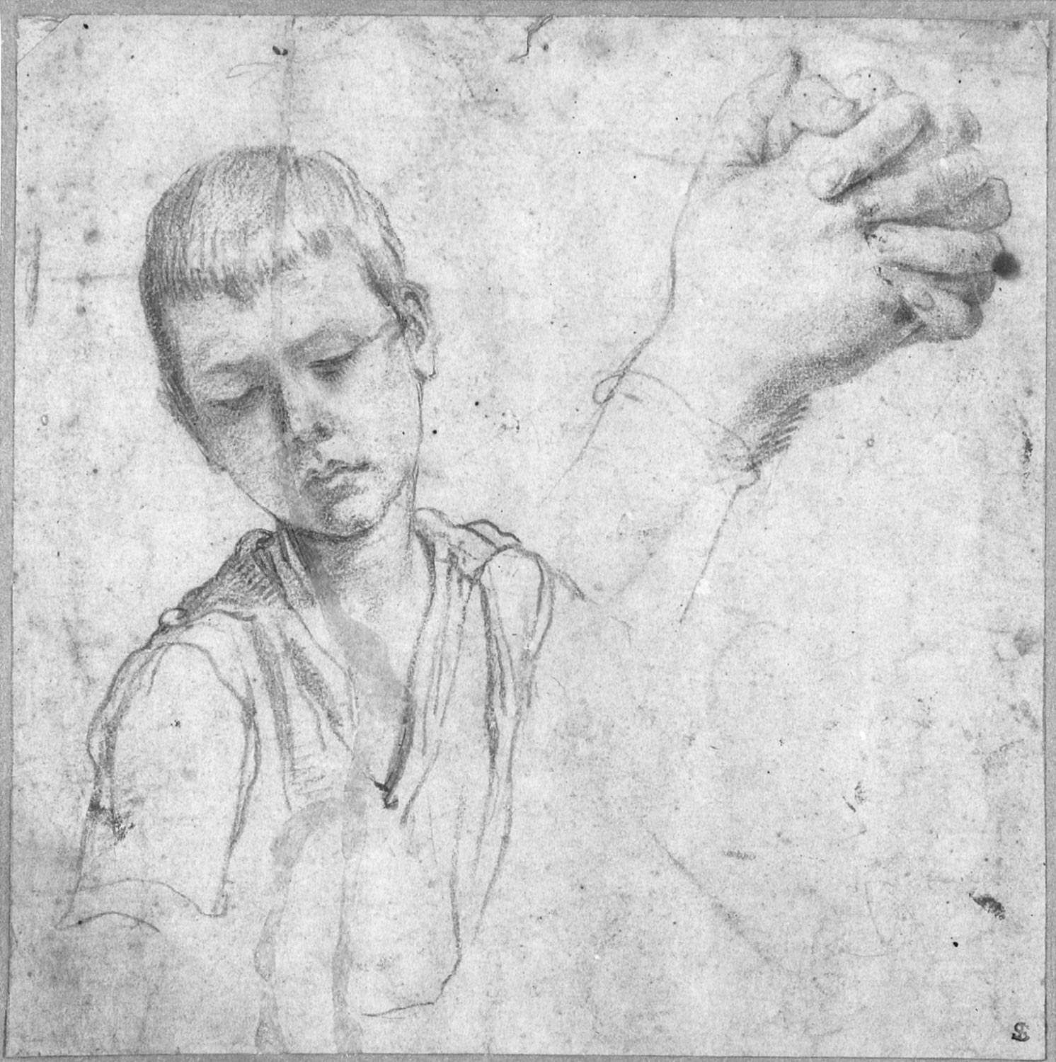 Half-Length Study for a Boy and Clasped Hands