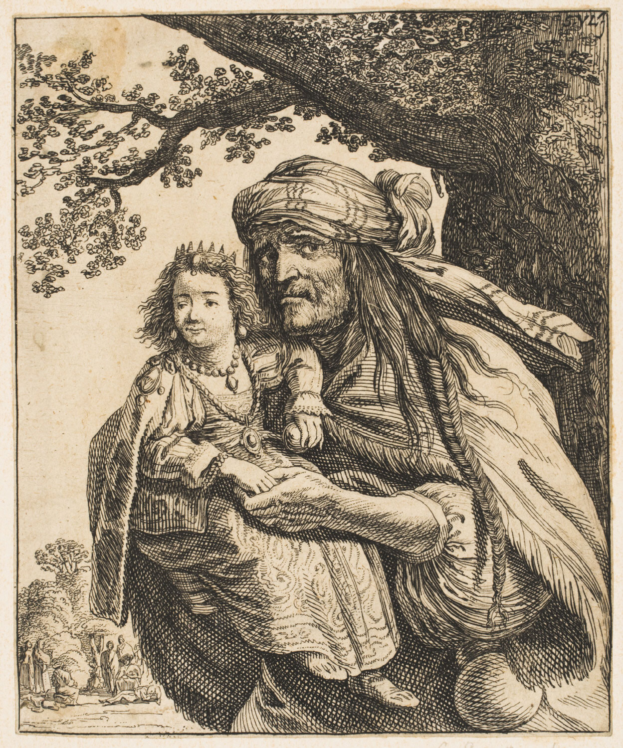 A Gypsy Carrying a Little Princess