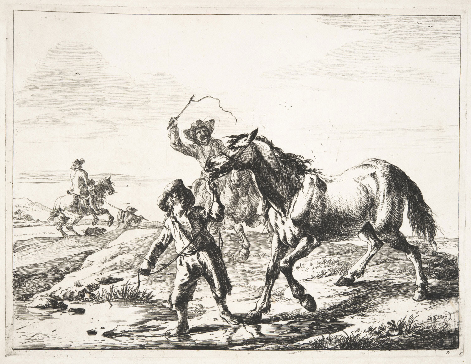 Boy Taking a Horse to Drink