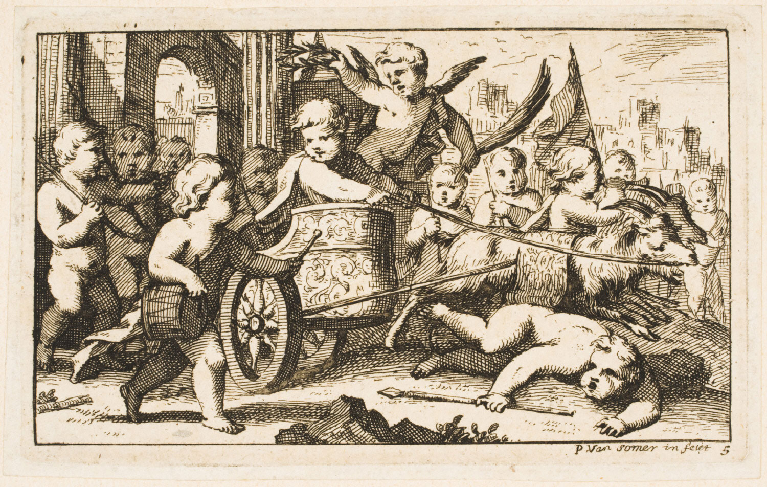 Putti in a Chariot Drawn by Two Goats