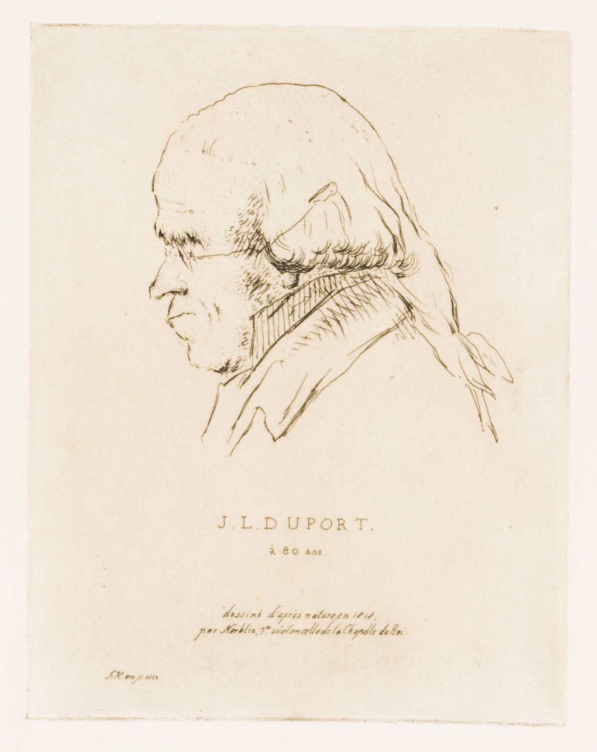 Portrait of the Cellist Jean-Louis Duport (1749 - 1819), at the Age of 80