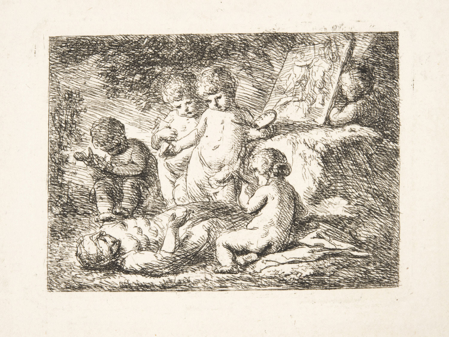 Allegory of Art with Putti