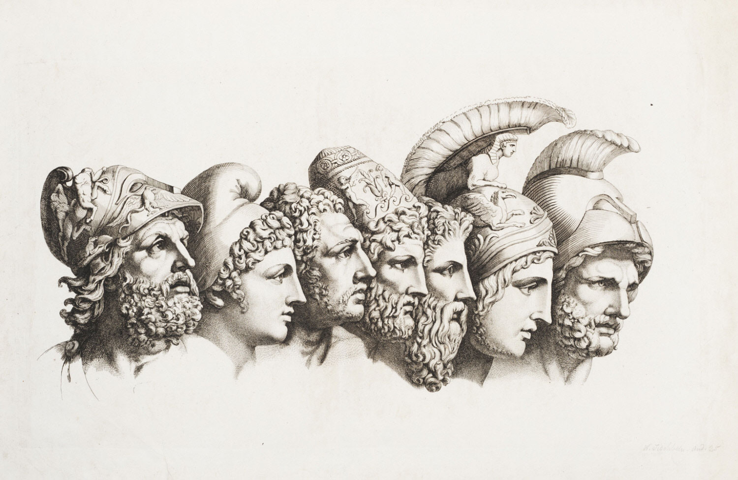 Busts of the Seven Major Heroes of the Iliad