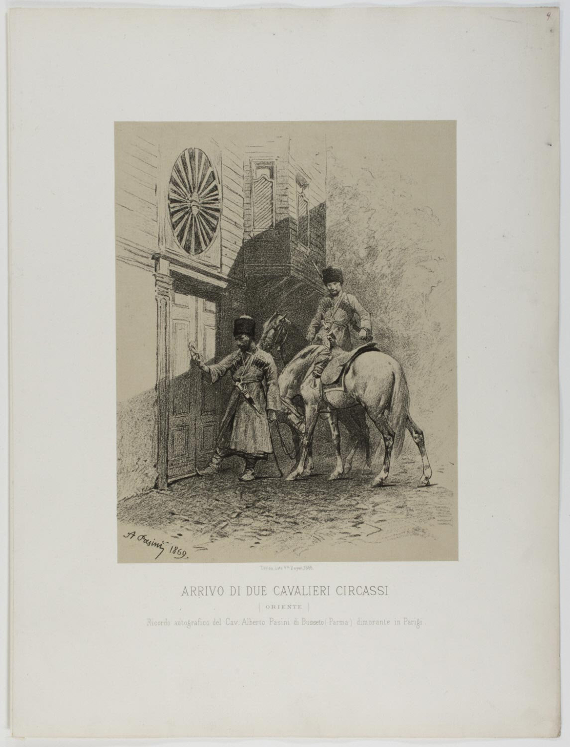 Arrival of Two Circassian Soldiers