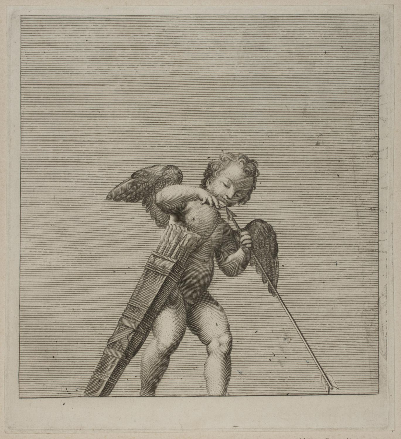 Putto Testing an Arrow