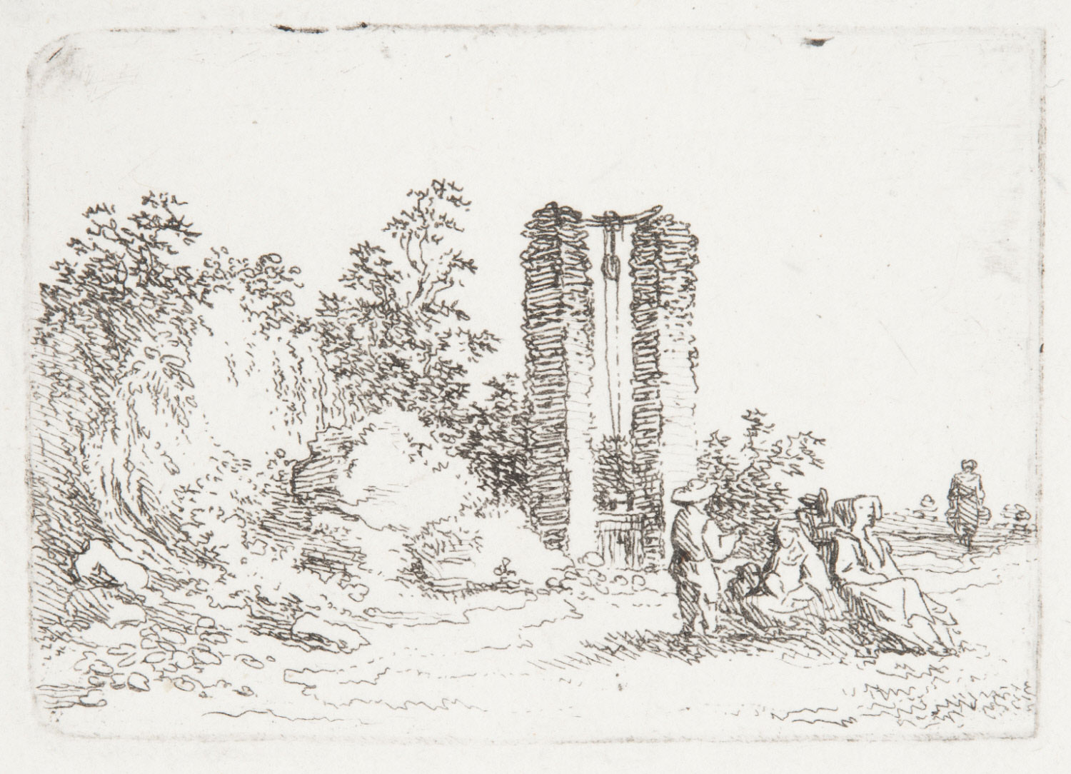 Figures by a Ruined Well