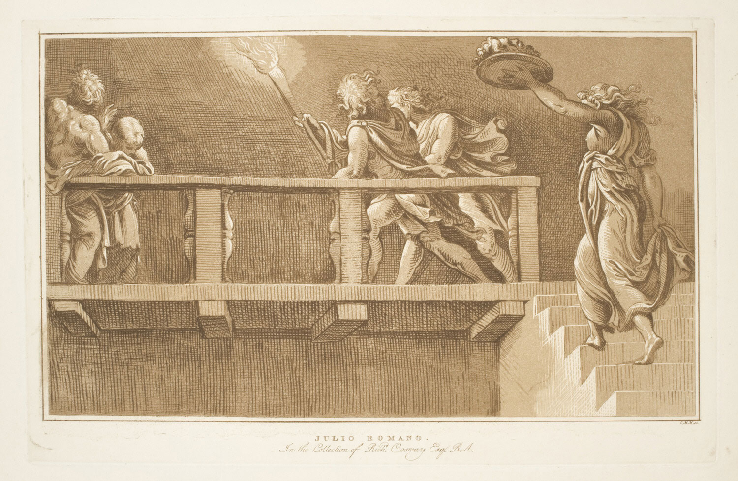 Figures on a Balustrade--Salome with the Head of John the Baptist
