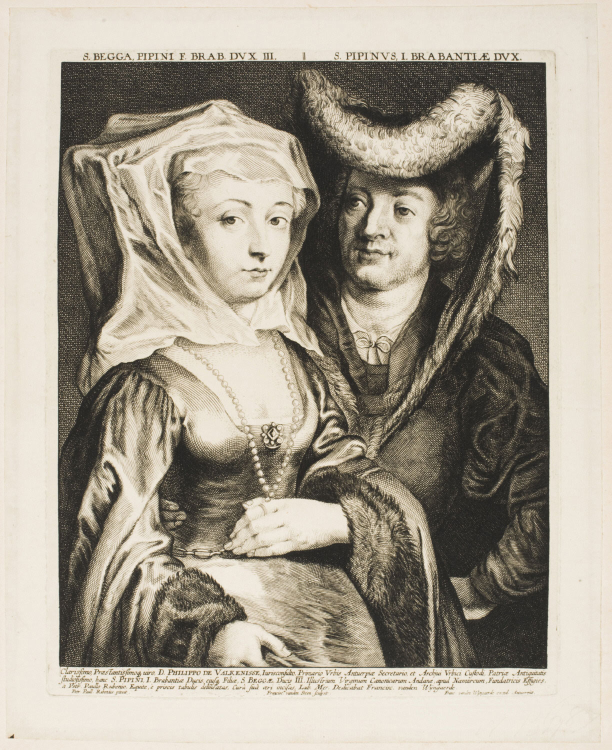 Portrait of Pepin I, First Duke of Brabant, and Bega, His Daughter