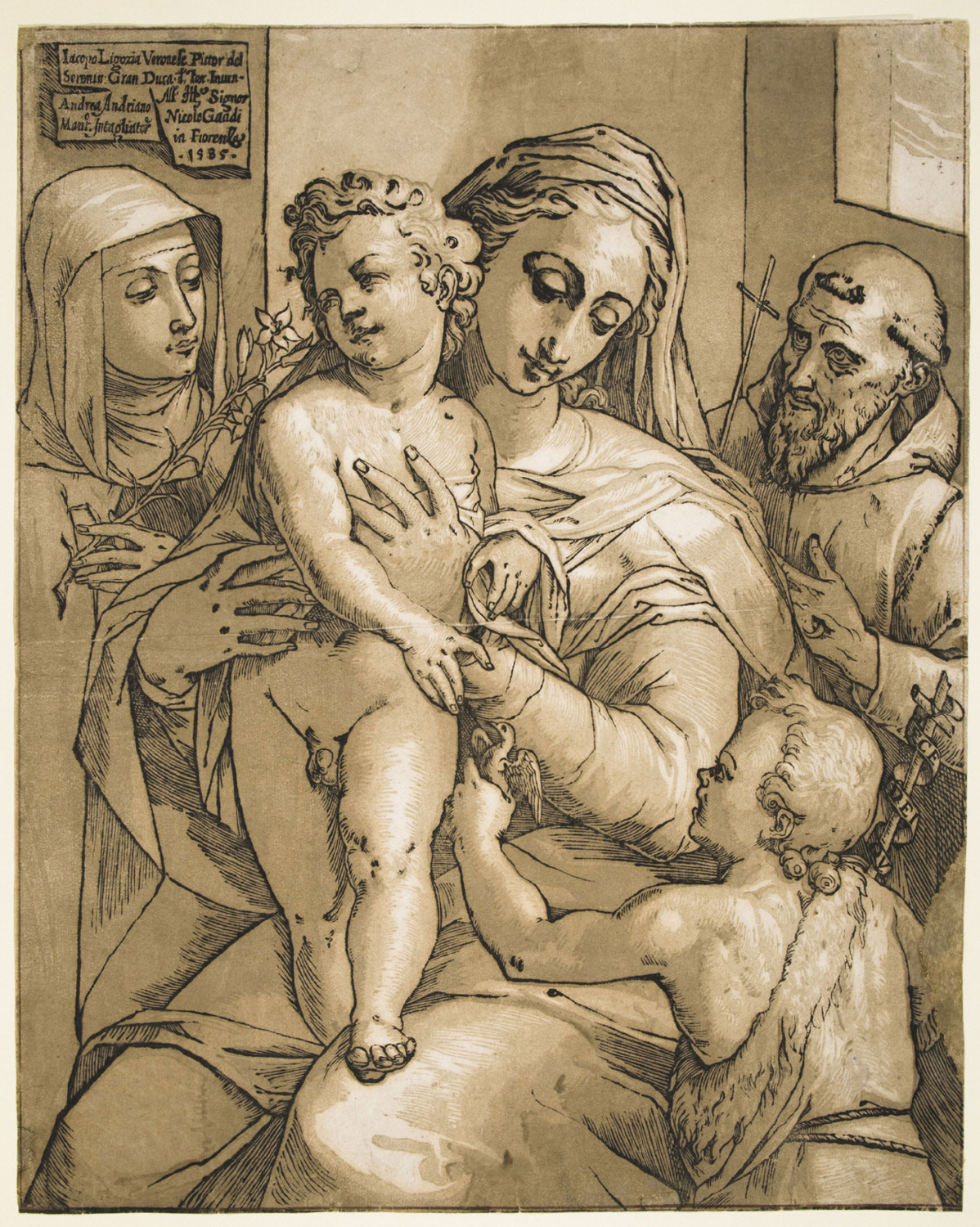 Madonna and Child with Sts. Francis, Claire, and Catherine of Siena