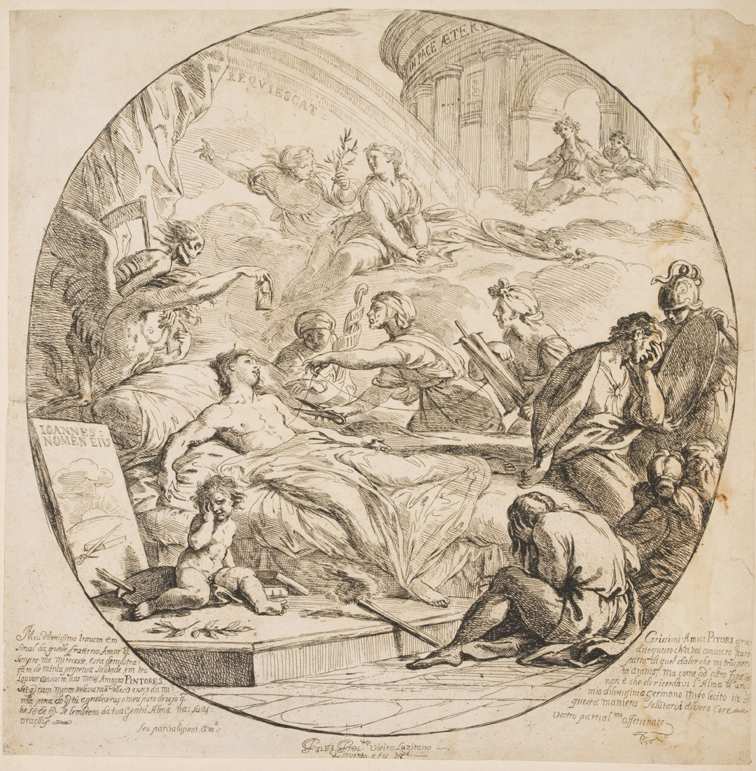 Allegory of an Artist, Dying Young