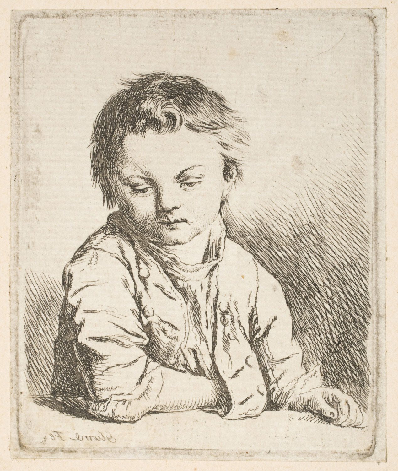 Boy with Right Hand in Jacket