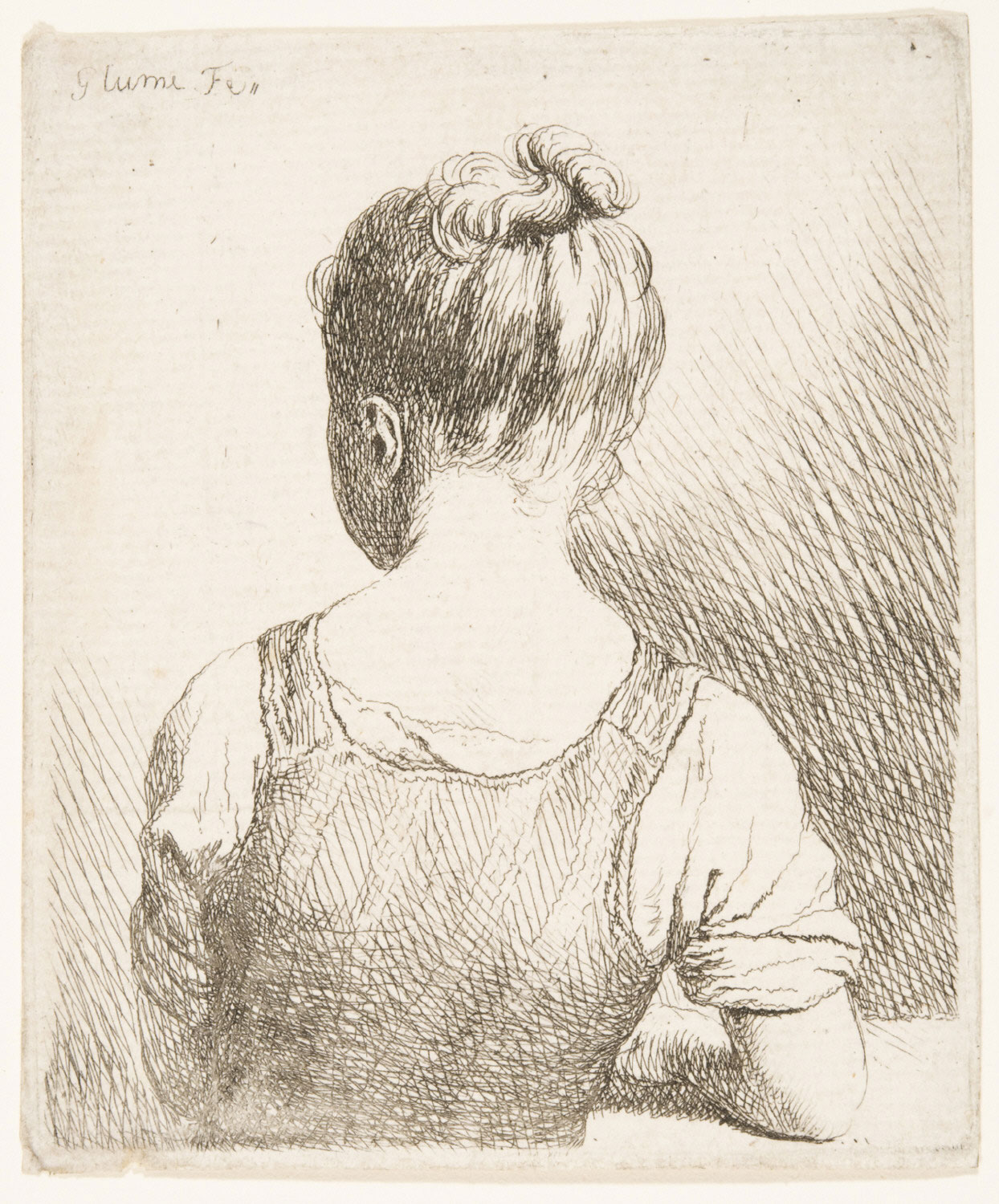 Girl Seen from Behind