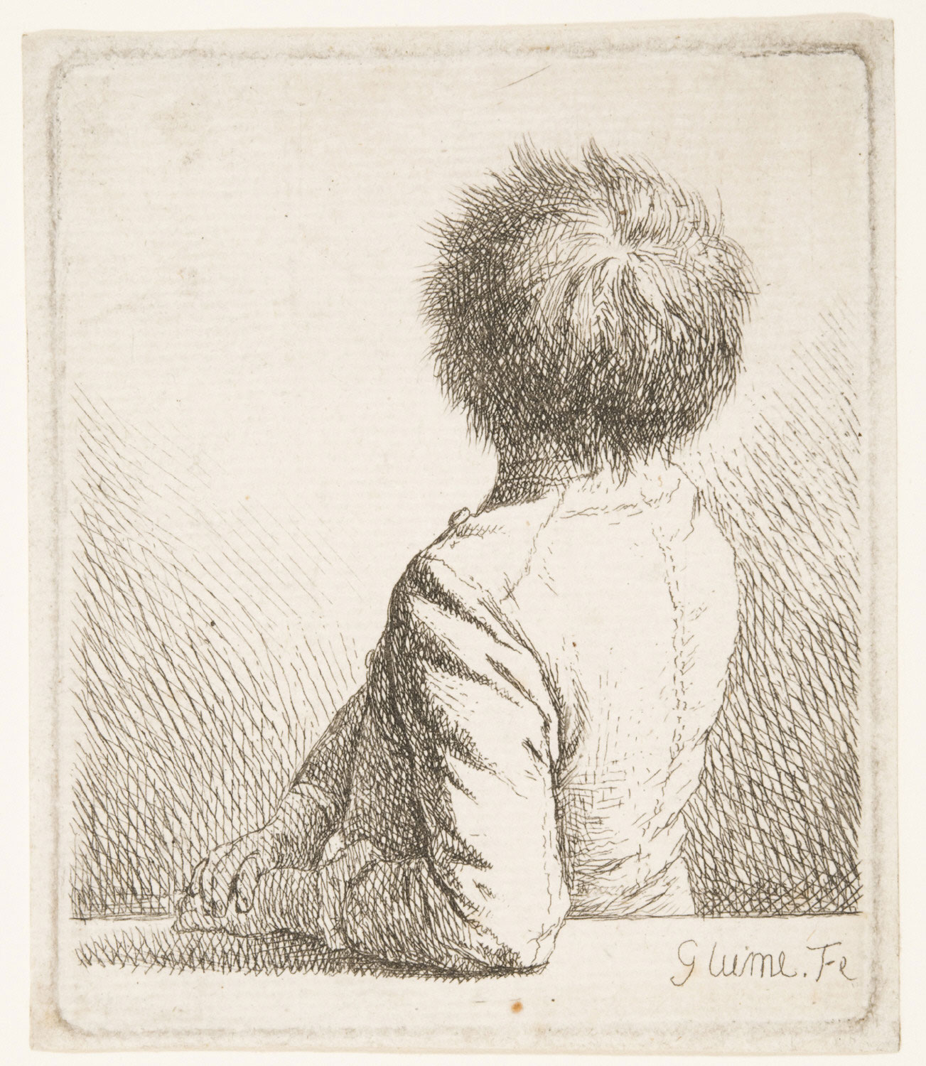 Boy Seen from Behind