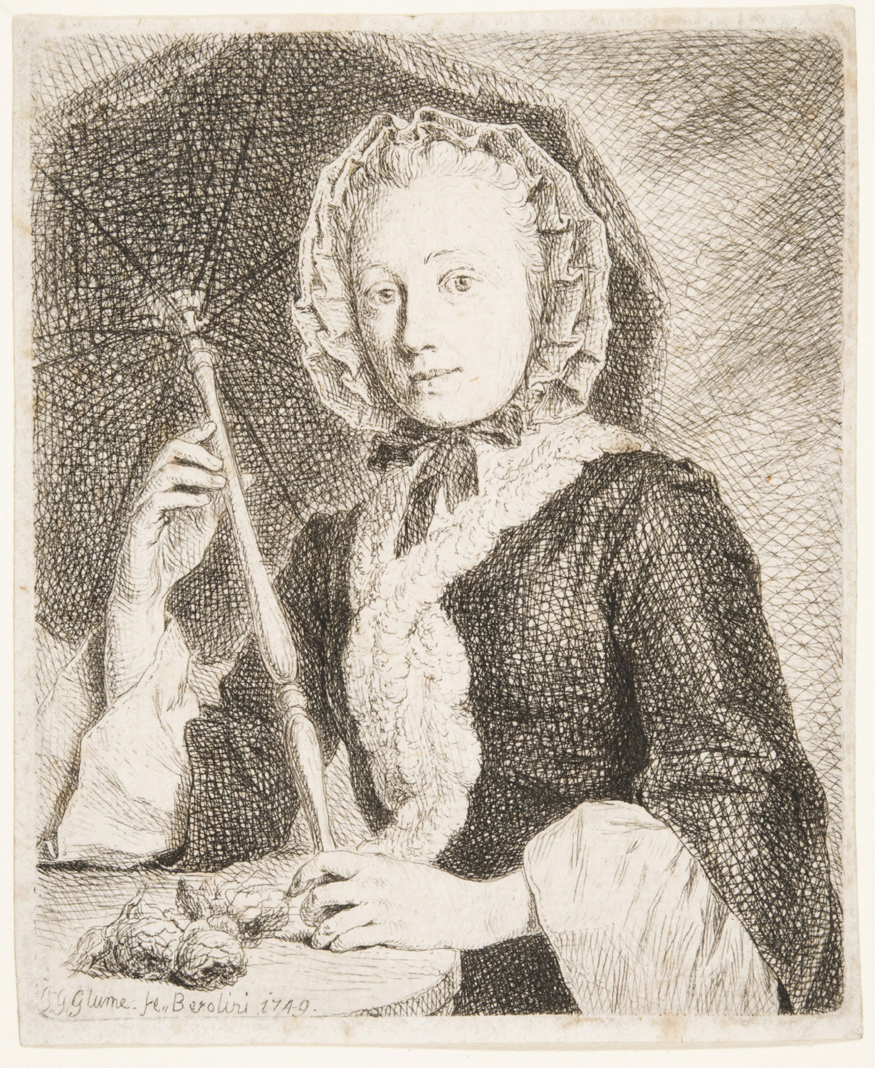 Young Woman with a Parasol (Portrait of Charlotte Dorothea Glume, née Cupcovius)