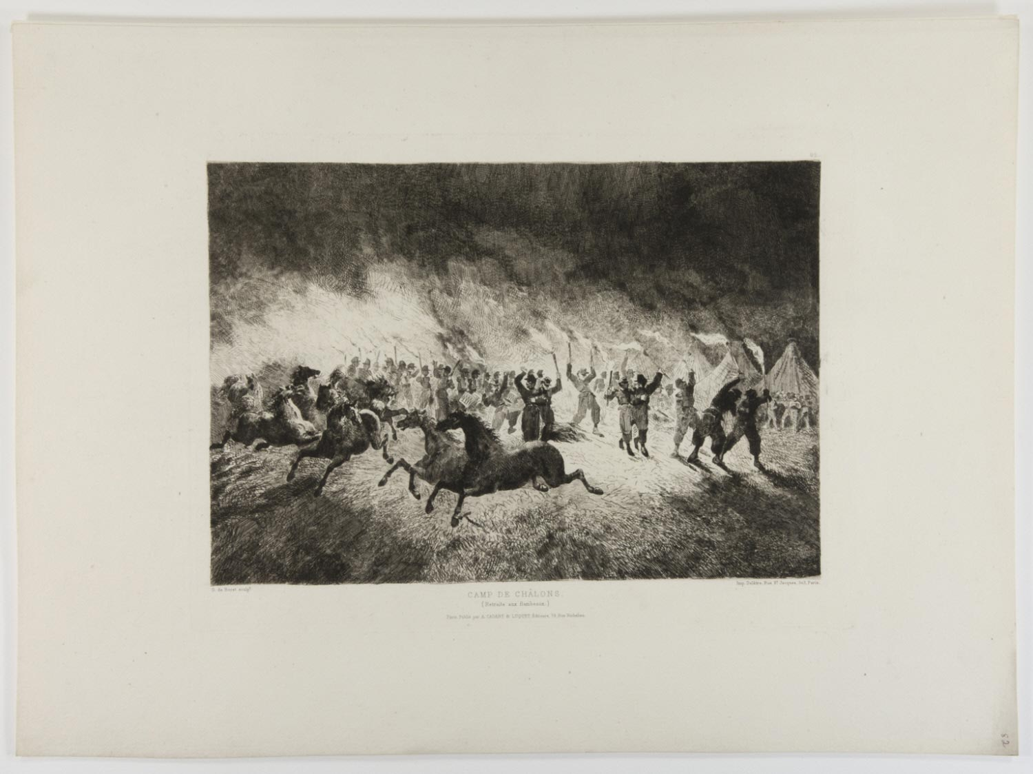 Camp at Châlons (Horses Running from Flames)