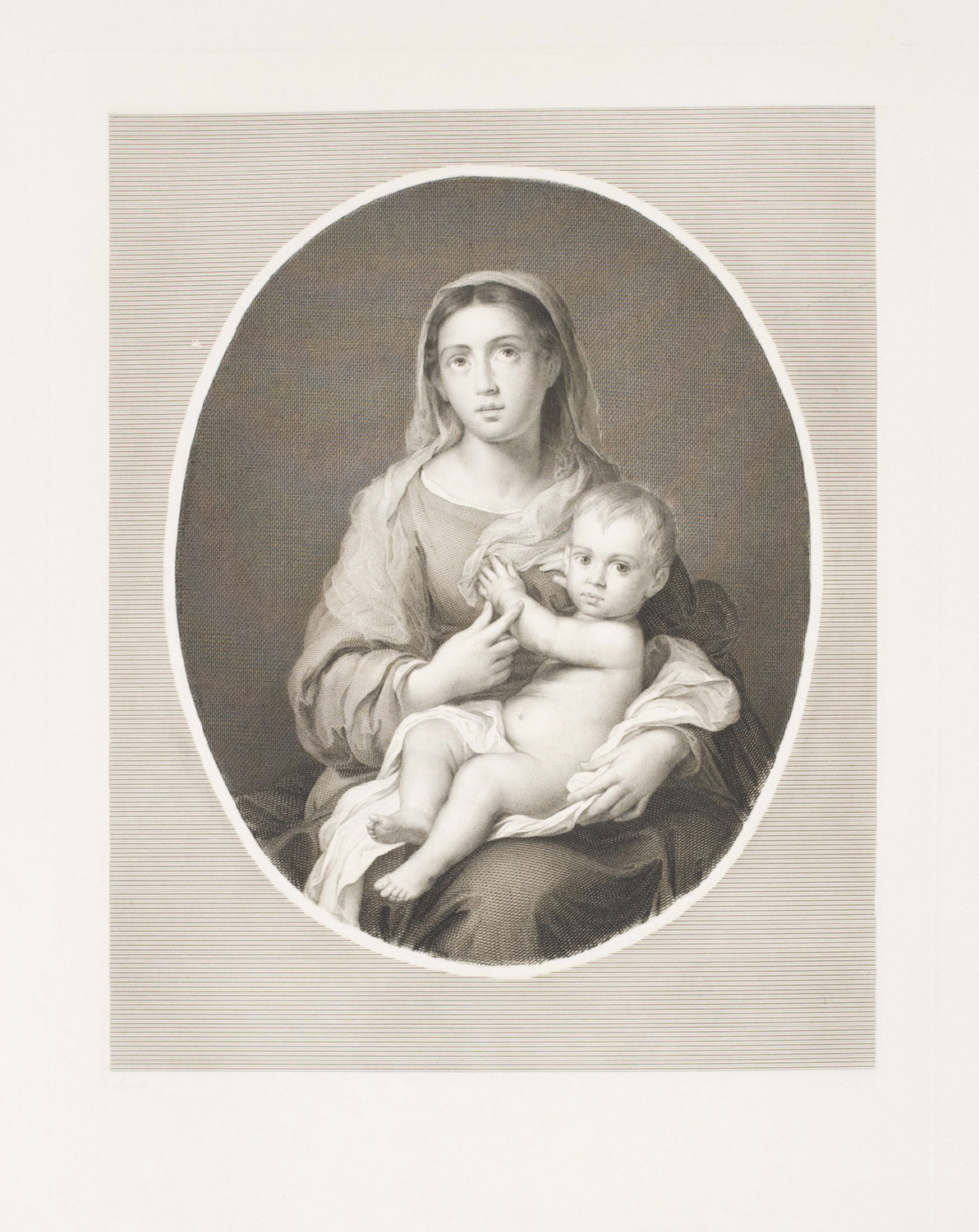 Madonna and Child in an Oval