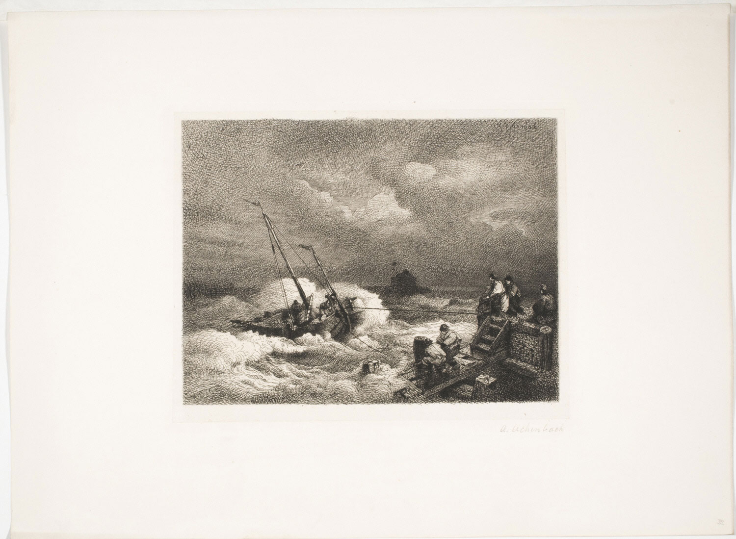 Ship Coming to Shore in a Storm