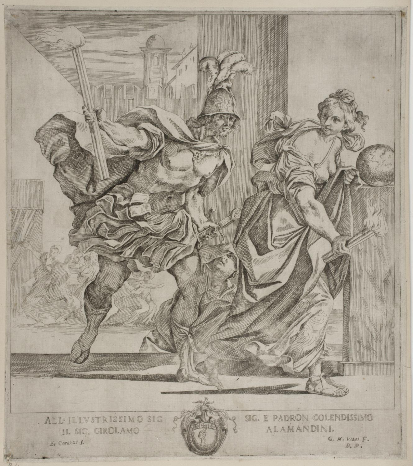 Alexander the Great and Thaïs Putting Persepolis to the Torch