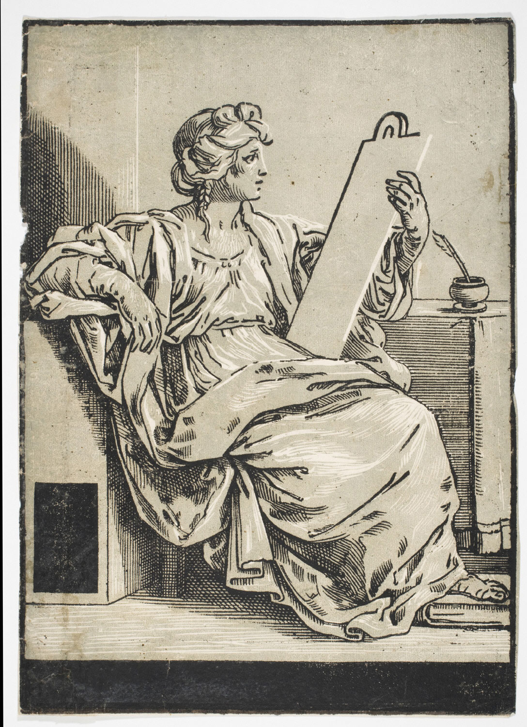 A Sibyl with a Tablet and an Inkpot to the Right