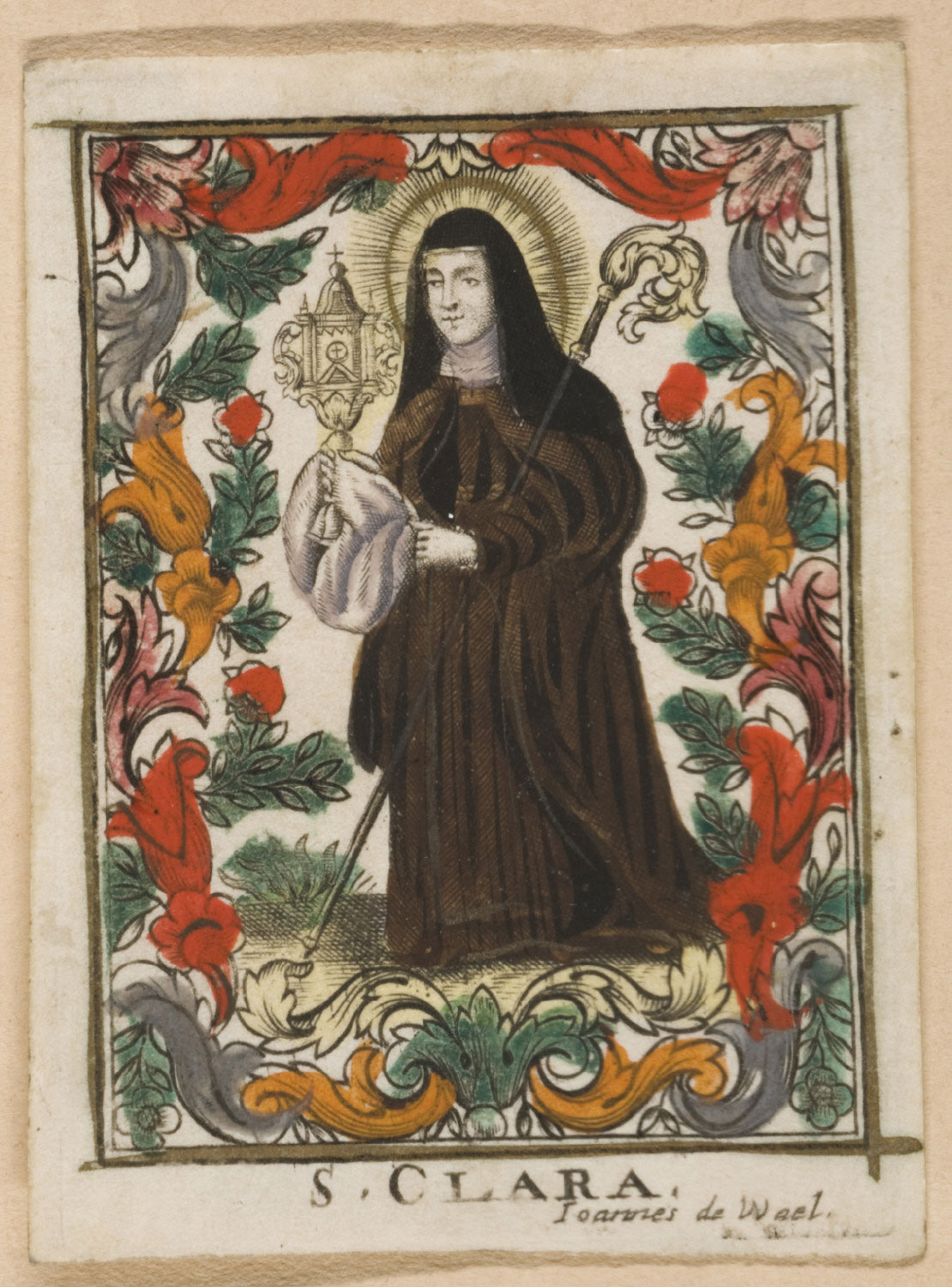 Holy Card with St. Claire
