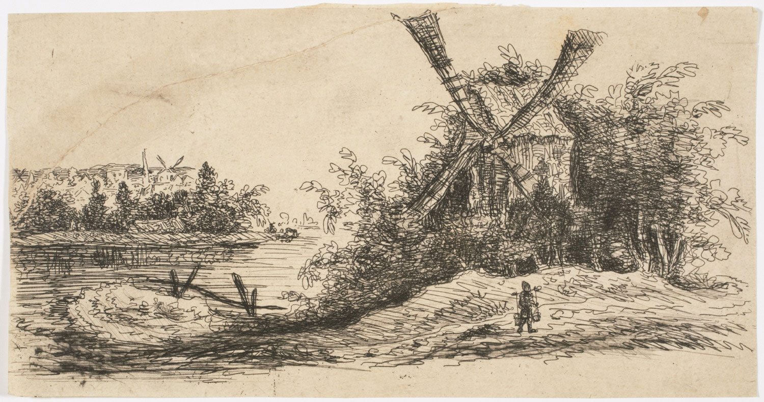 Landscape with Windmill and Water Carrier