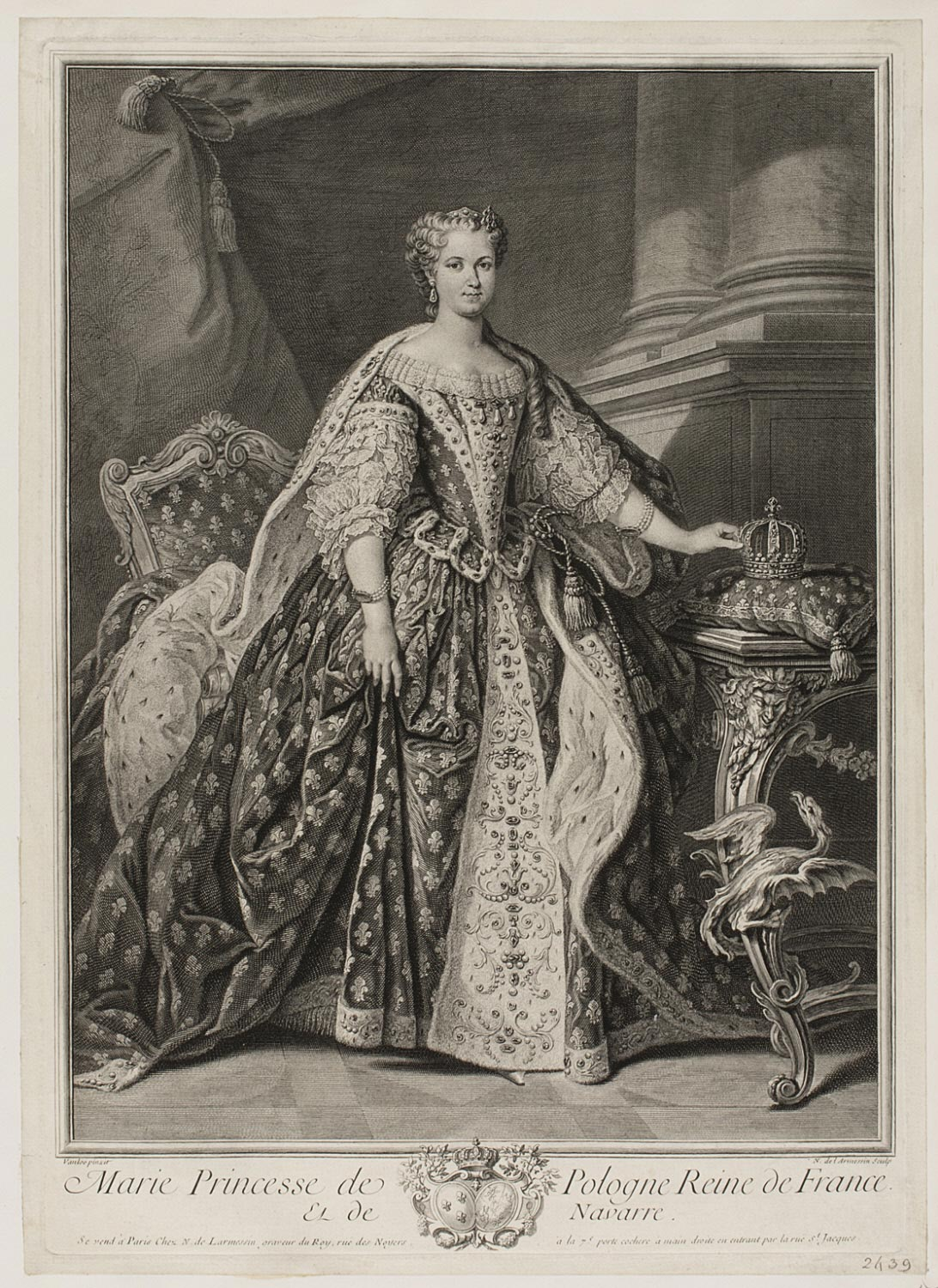 Marie Leszczinska, Princess of Poland and Queen of France and Navarre (1703 - 1768)