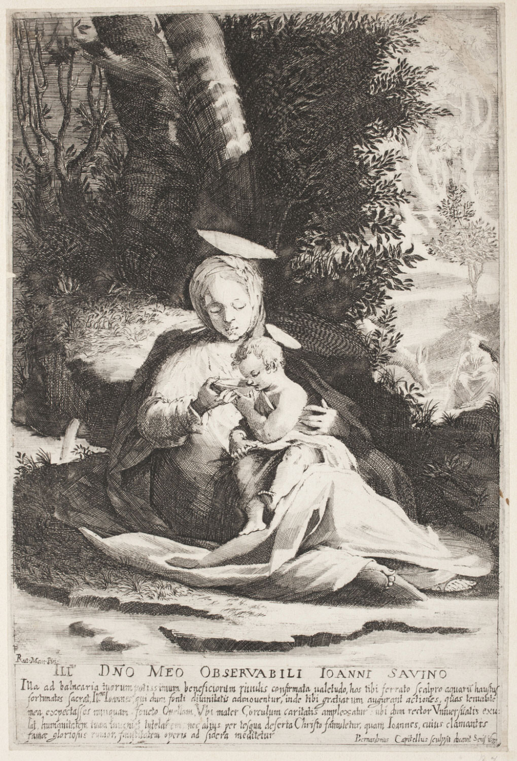 Madonna and Child beside a Fountain
