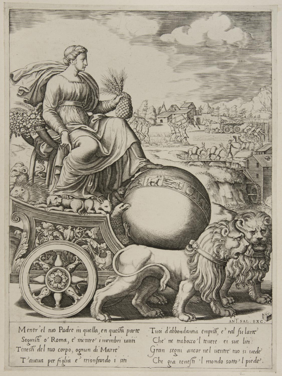 Cybele in Her Chariot