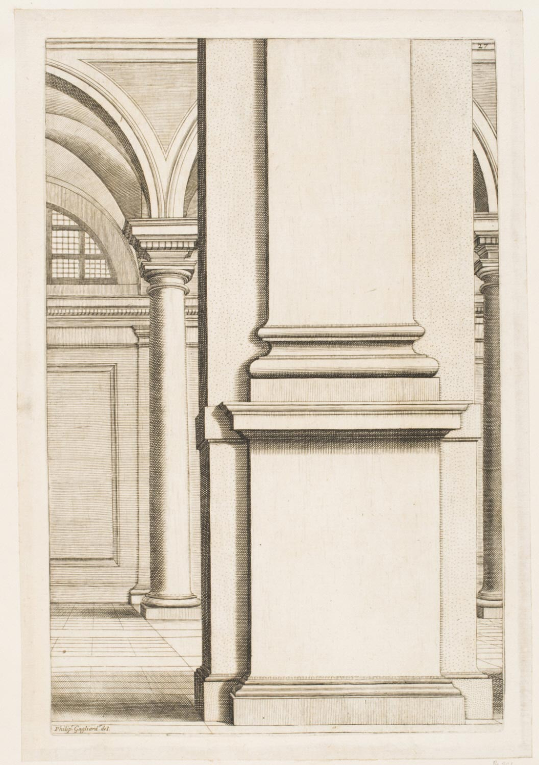 Architectural Enframement for the Portrait of a Cardinal