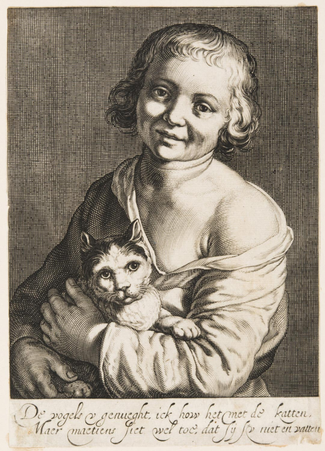 A Child with a Cat