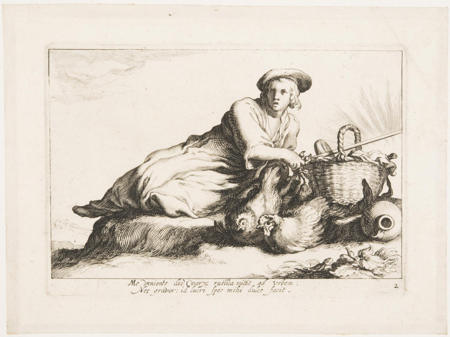 A Woman with Poultry