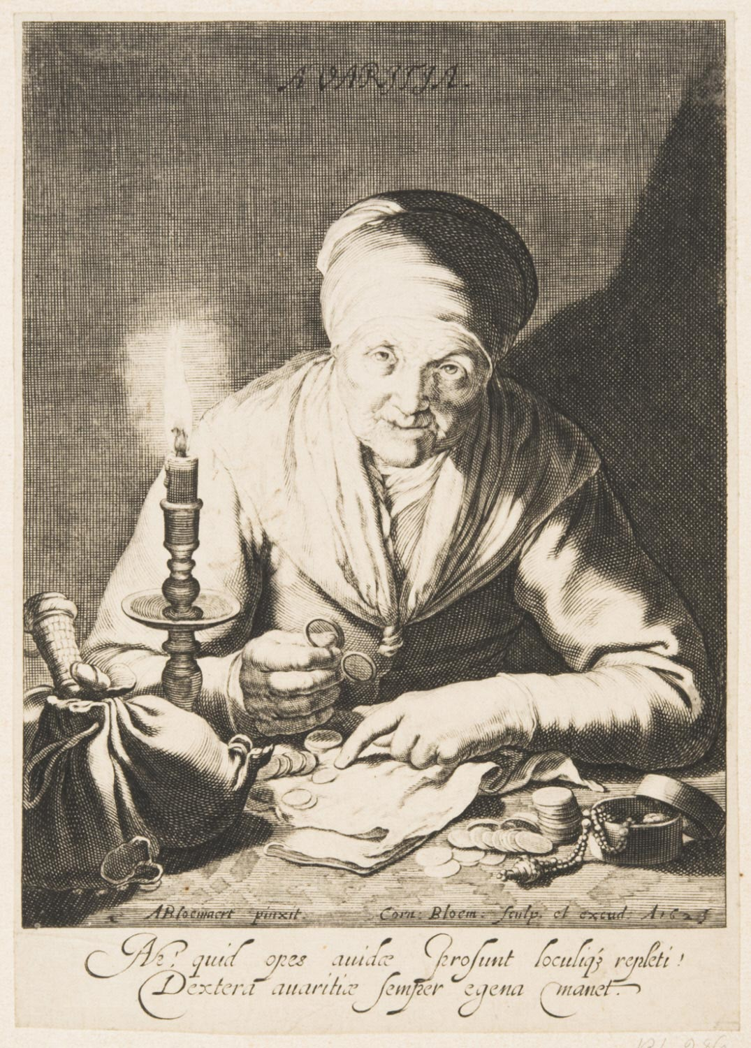 Avarice (An Old Woman Counting Money)