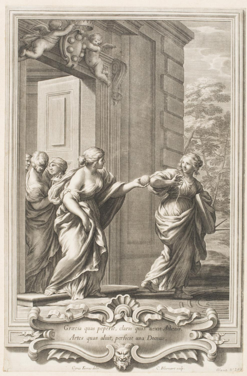 Allegorical Scene with Astronomy, Geometry and Philosophy