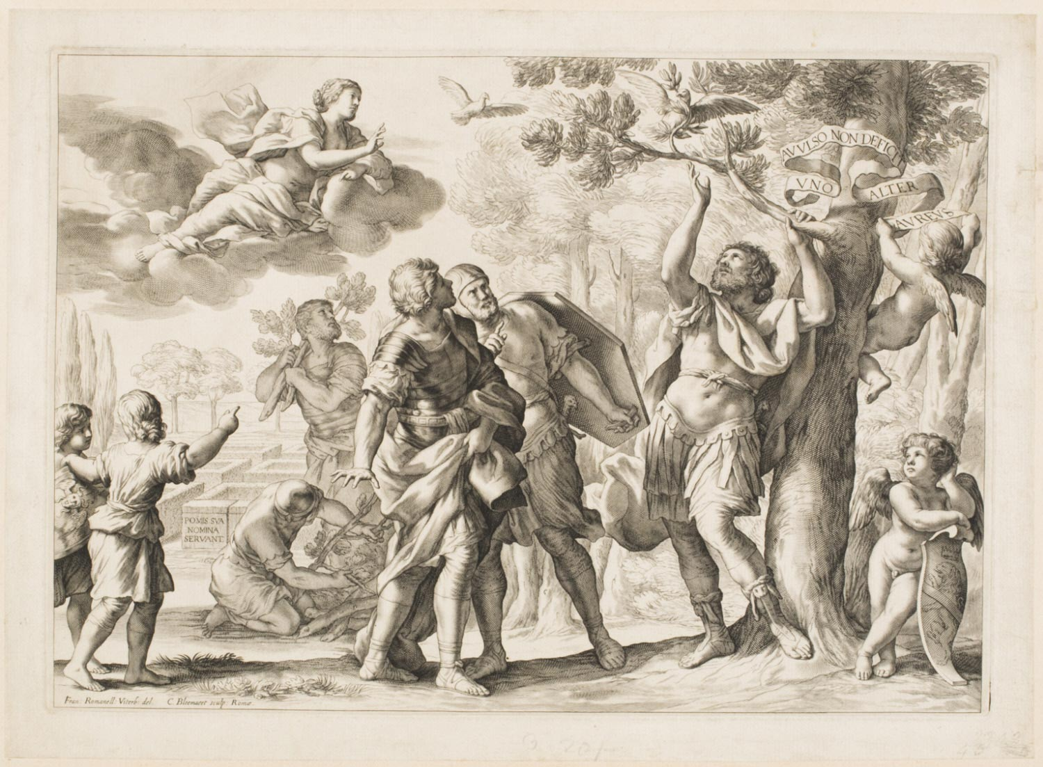 Aeneas Breaking off the Golden Branch