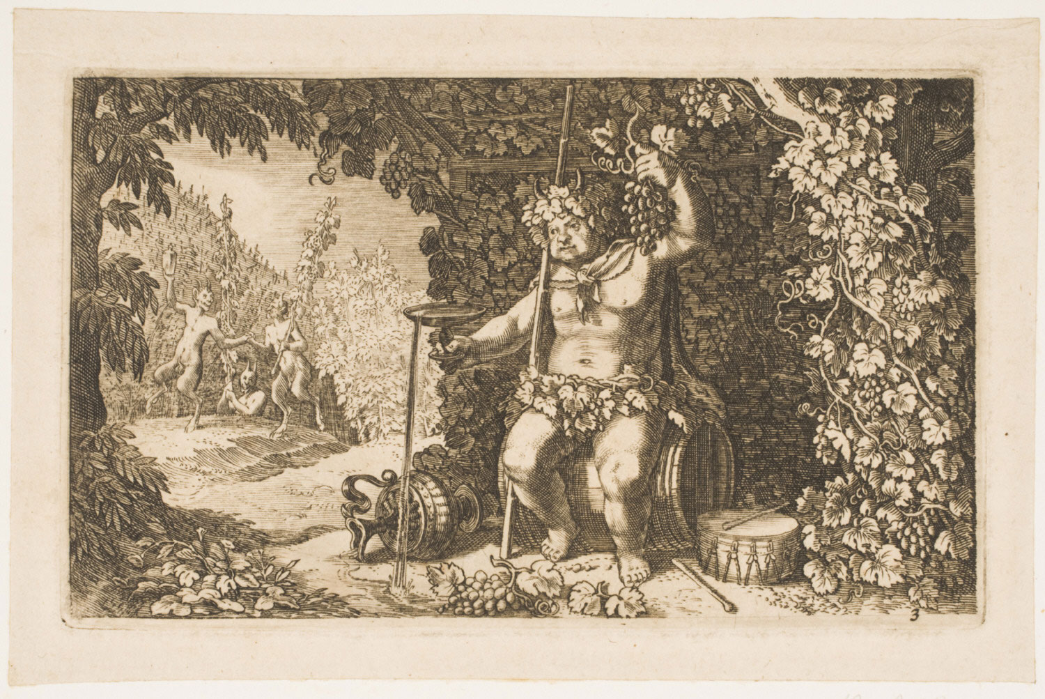 Bacchus as the God of Wine