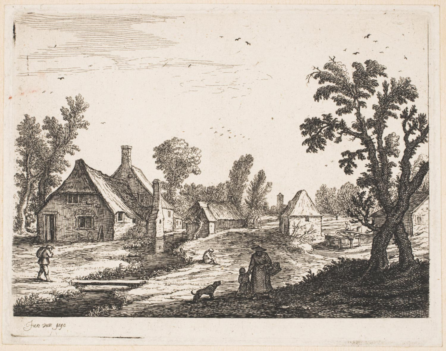 The Village on the Bank of a Brook