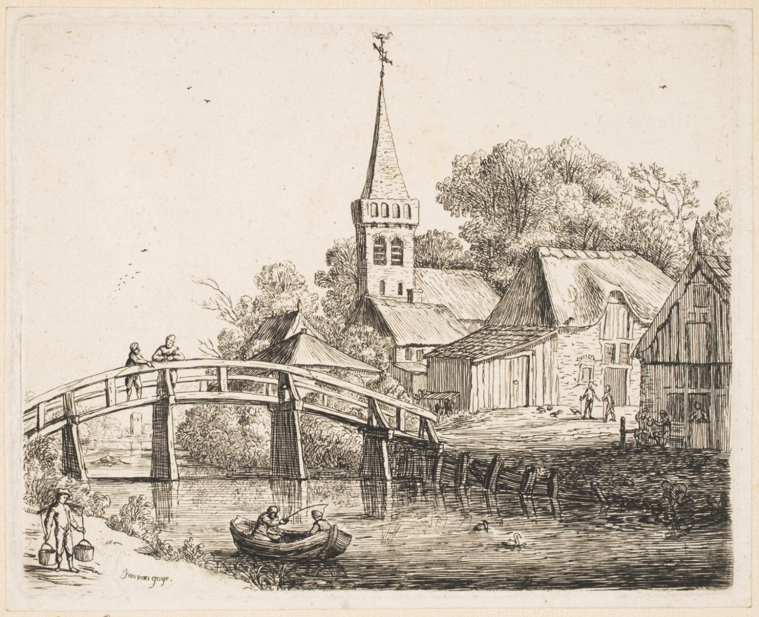 Landscape with a Wooden Bridge
