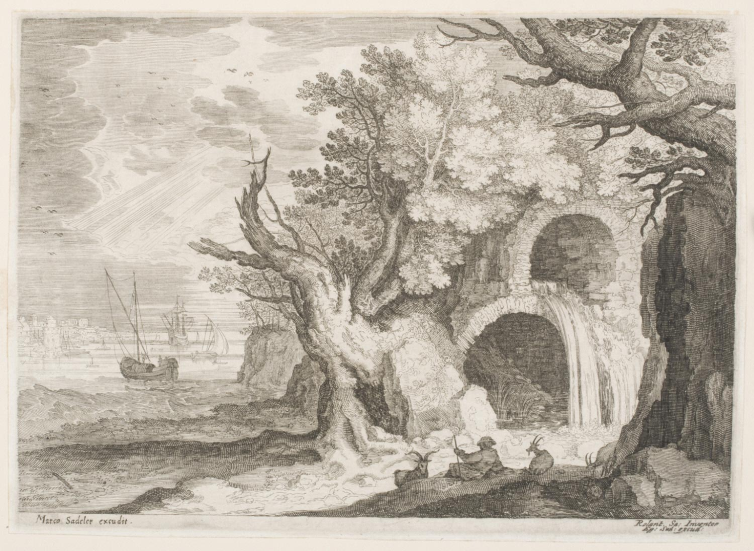 Aquaduct with a Waterfall
