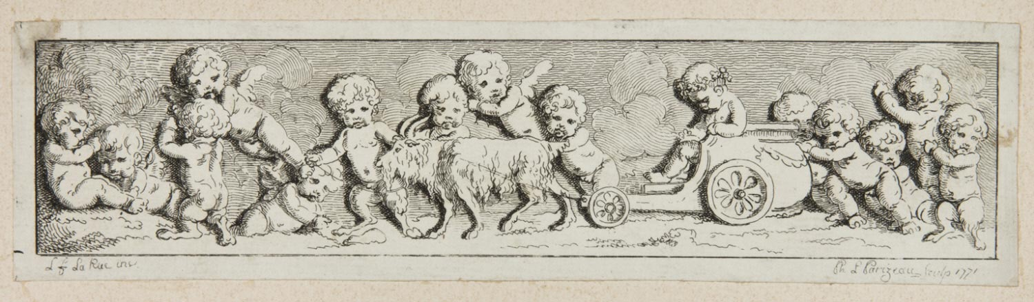 Frieze with Putti and Goat-Driven Chariot
