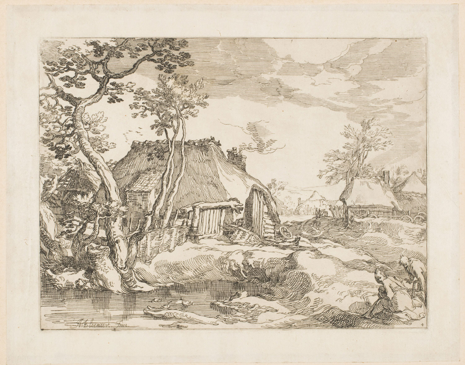 Landscape with Farmhouses, with a Picnicking Couple
