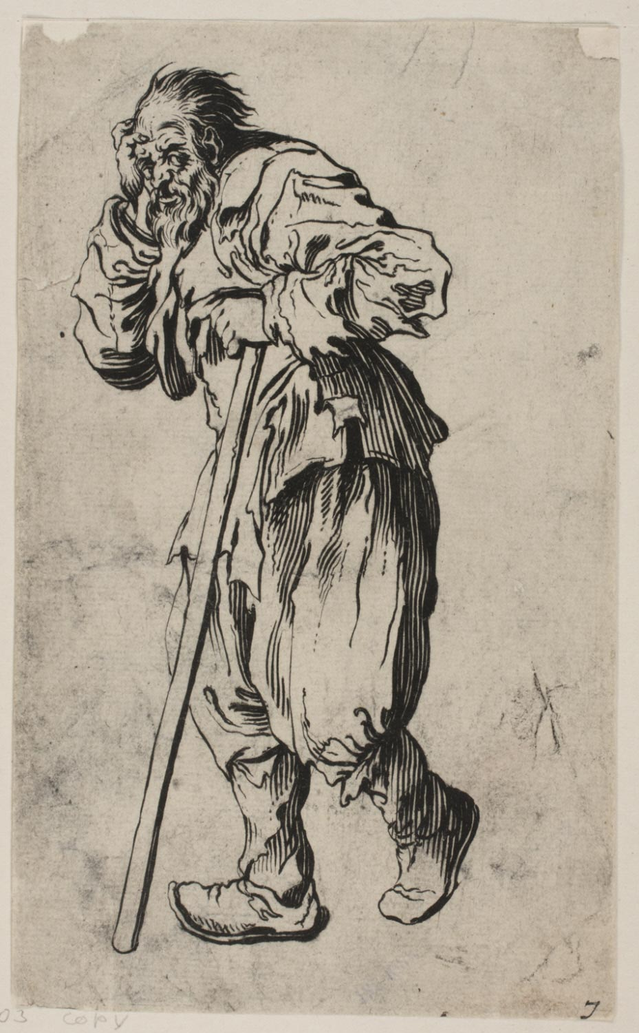 Beggar Leaning on His Staff