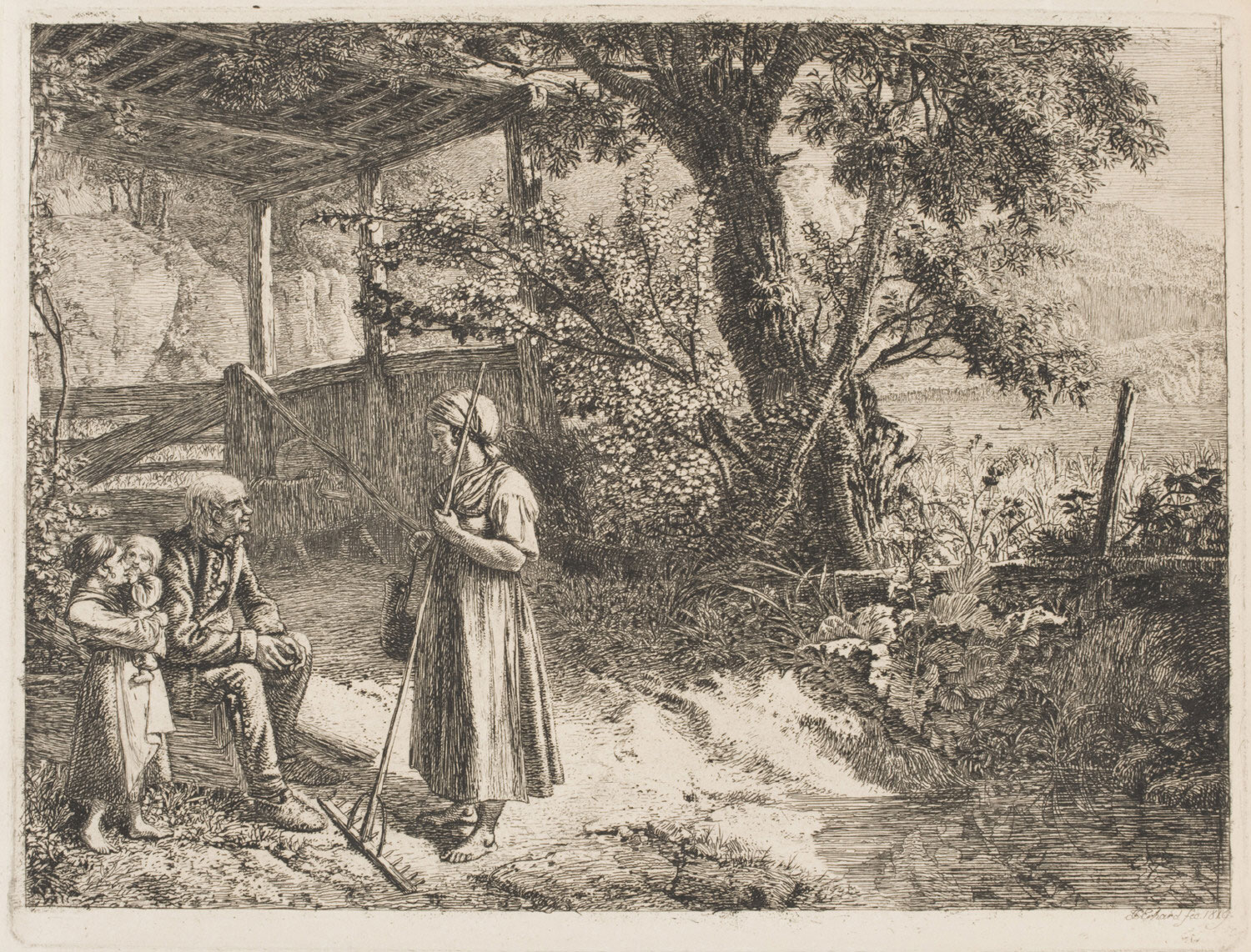A Peasant Woman with a Rake
