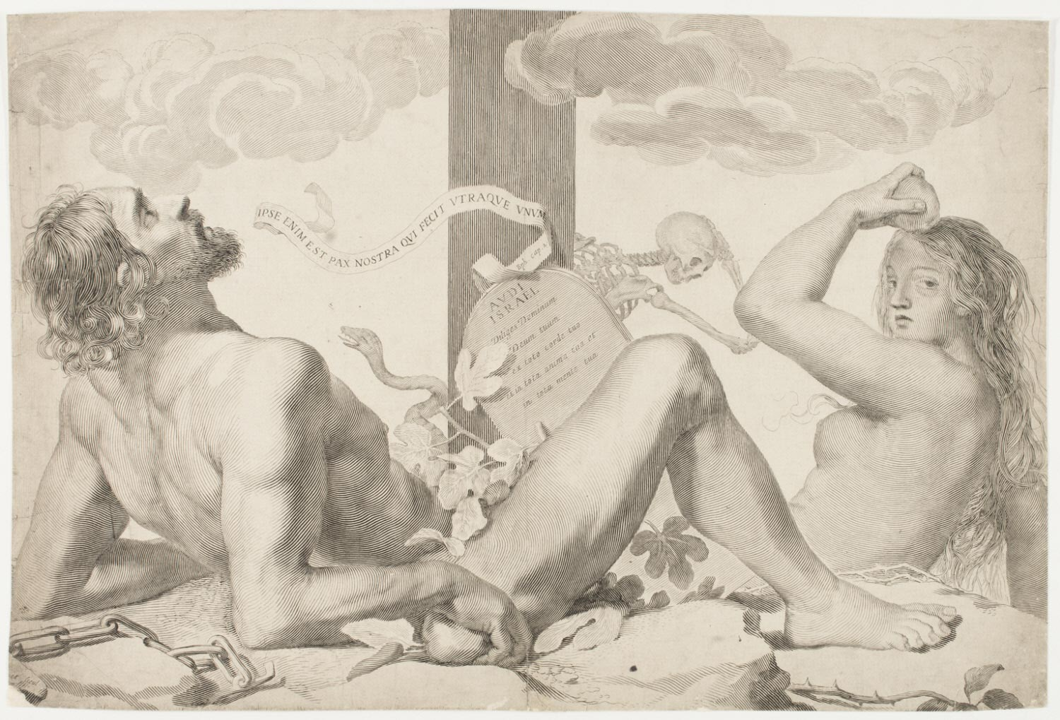 Adam and Eve at the Foot of the Cross