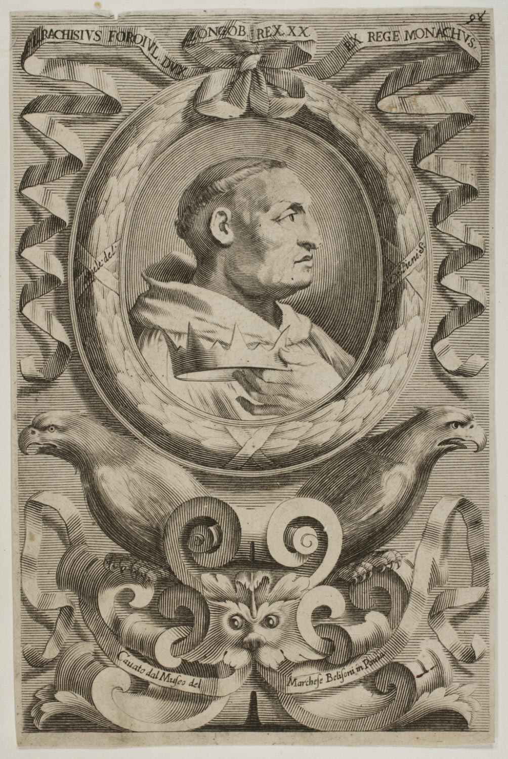 Portrait of a Monk Holding a Crown