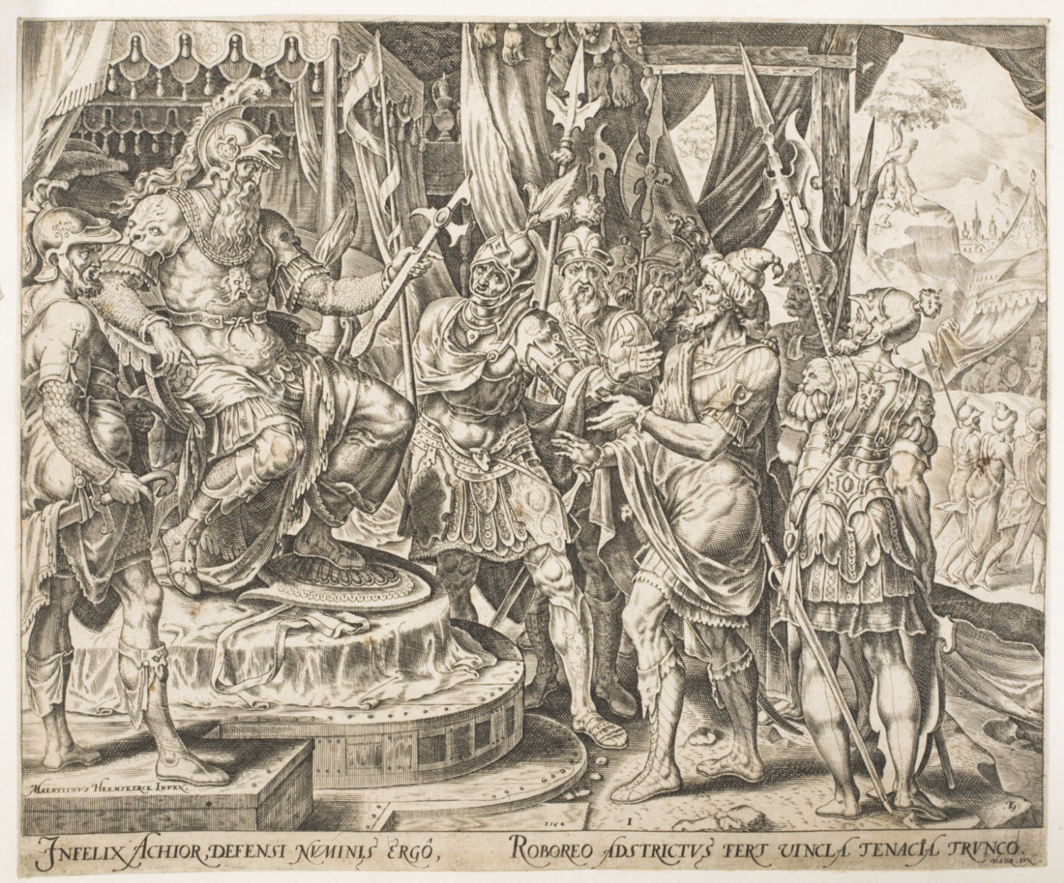 Achior Pleading with Holofernes for the Israelites