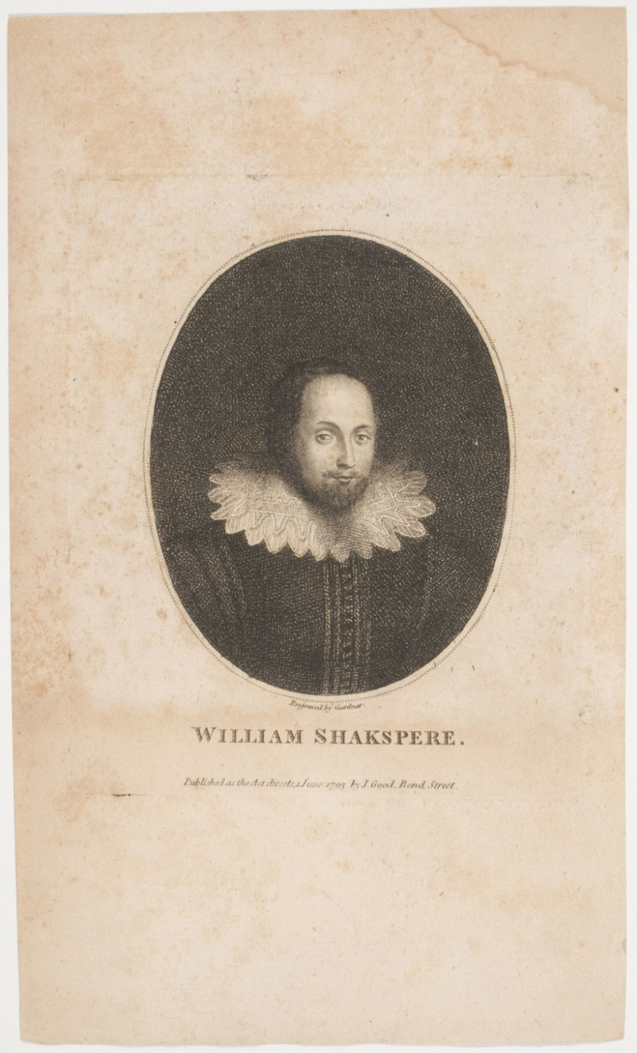 Portrait of William Shakespeare, Poet and Dramatist