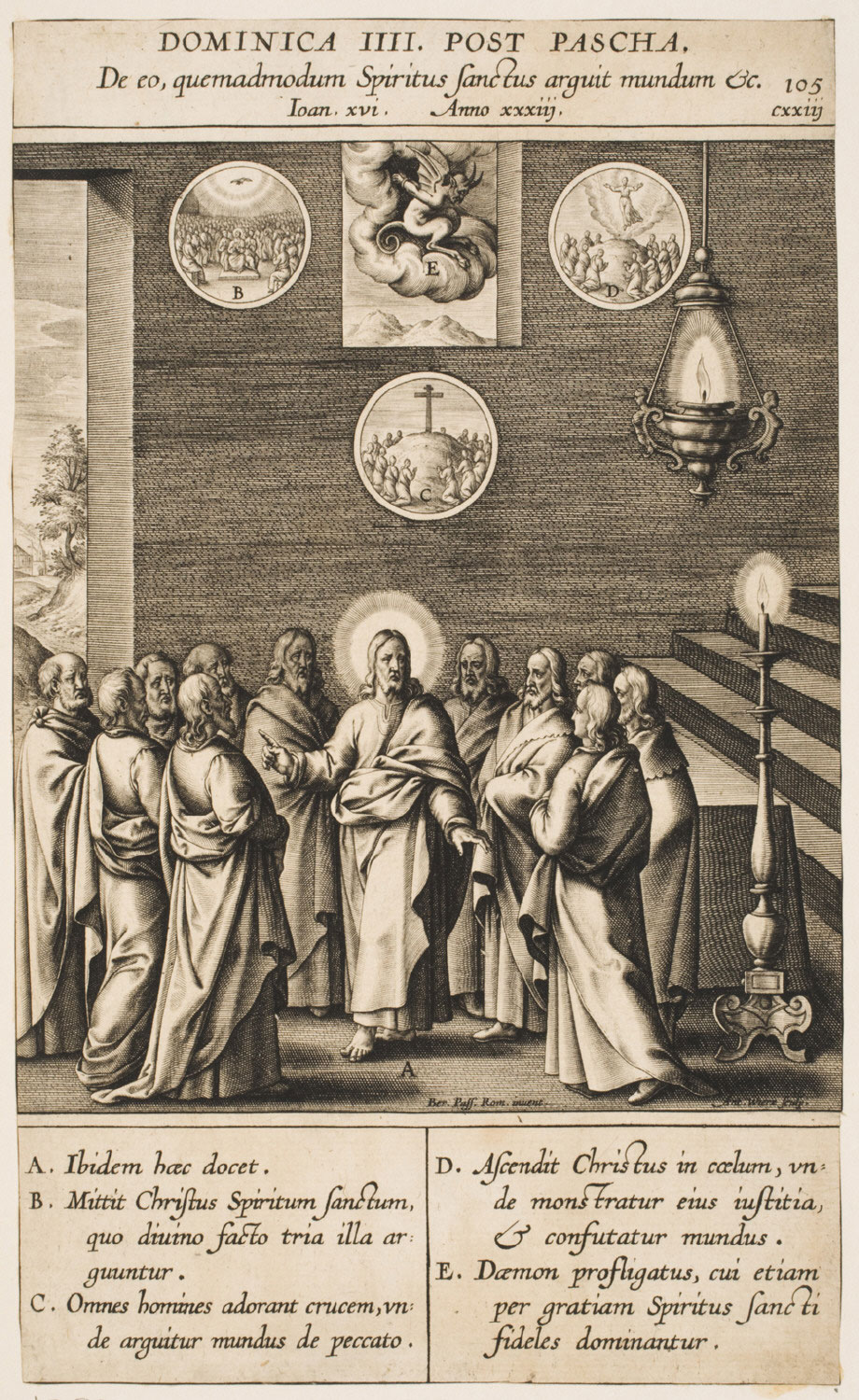 Christ Announcing the Coming of the Holy Spirit