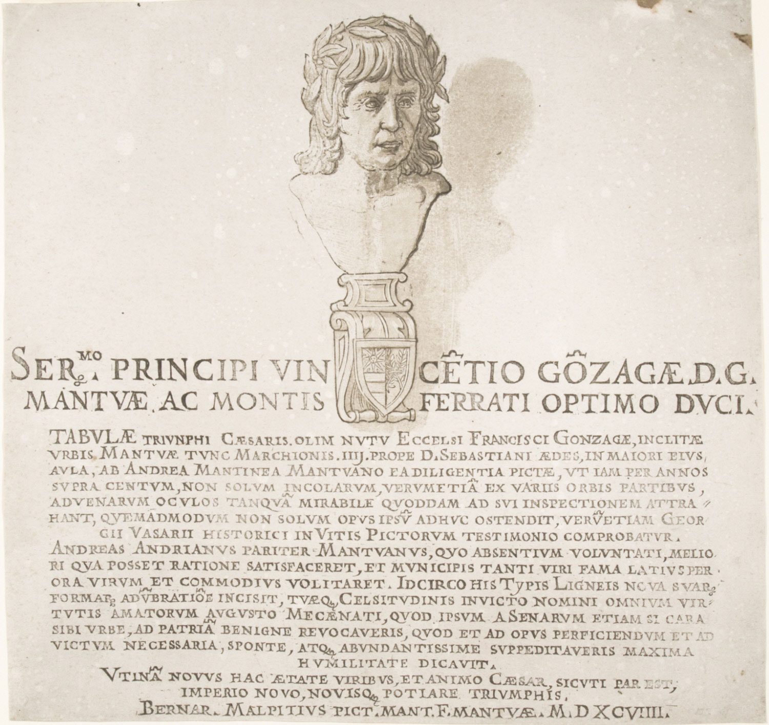 Frontispiece with Bust