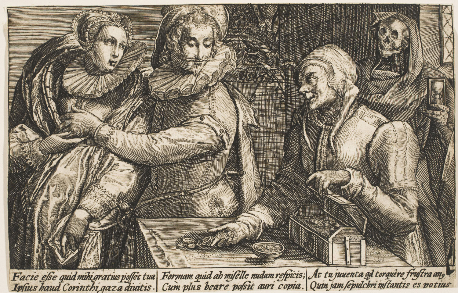 A Young Man Preferring a Sweetheart of his own age to a Rich Old Woman